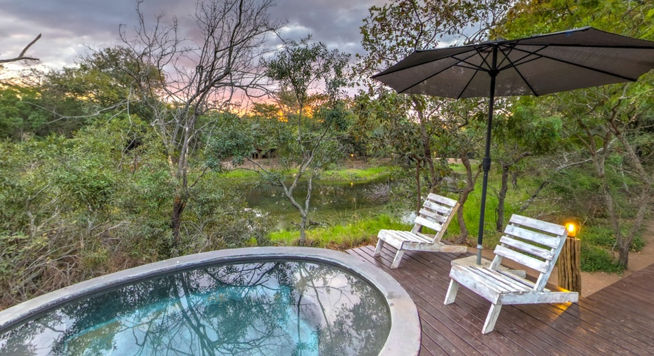 Relax by the Pool at Ngama Tented Safari Lodge
